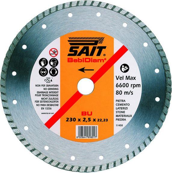 Sait Disco Diamantato 230 mm da taglio per smerigliatrice cemento mattoni 89801