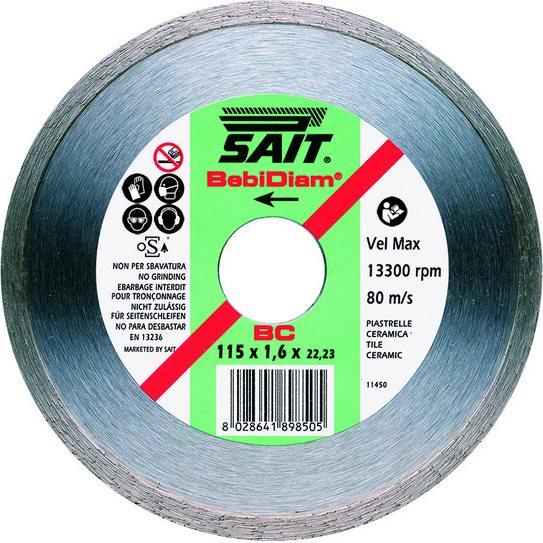 Sait Disco Diamantato 115 mm da taglio per smerigliatrice cemento mattoni 89850