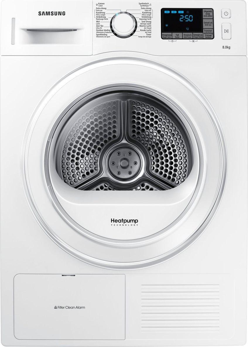 Asciugatrice samsung 8 kg pompa di calore classe a for Asciugatrice pompa di calore