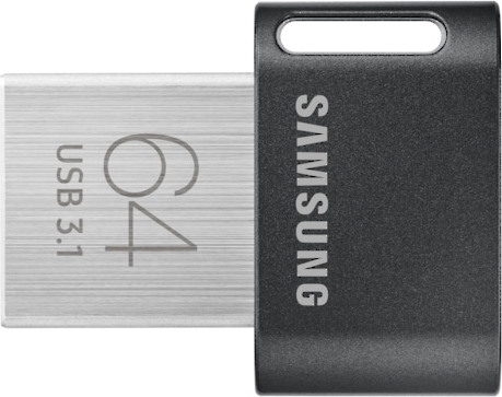 Samsung MUF-64ABAPC Pen Drive 64 GB USB 3.1 Gen 1 Nero  Fit Plus