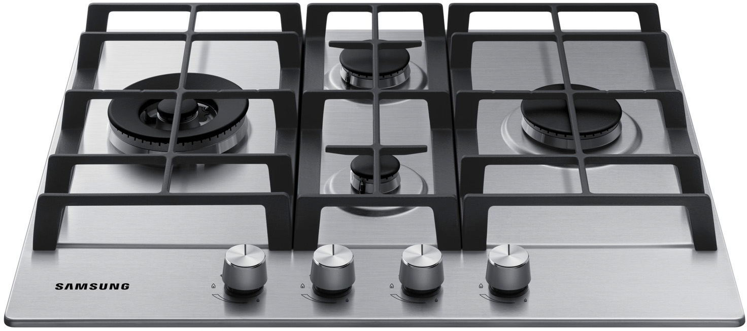 Samsung Piano cottura 4 Fuochi a Gas da incasso (1 Bruciatore Wok ...