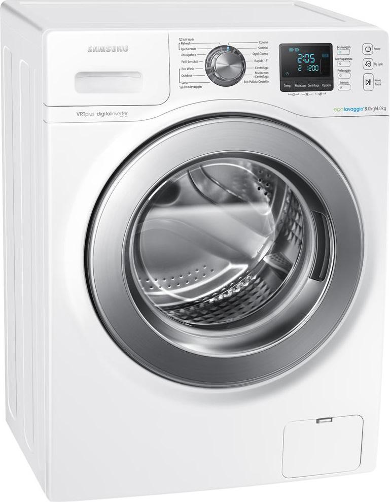 Samsung lavasciuga slim lavatrice asciugatrice capacit di for Lavasciuga 45 cm