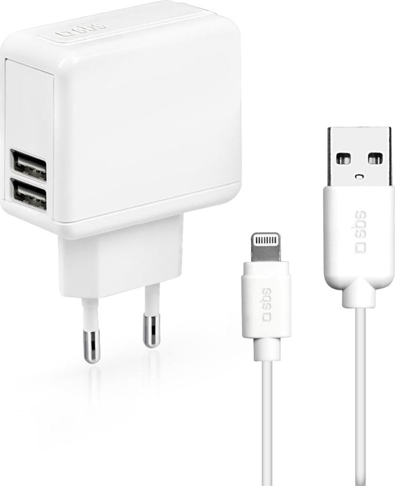 Sbs Caricabatterie Rete Smartphone iPhone 2 USB TTKITIPTRAV2AW