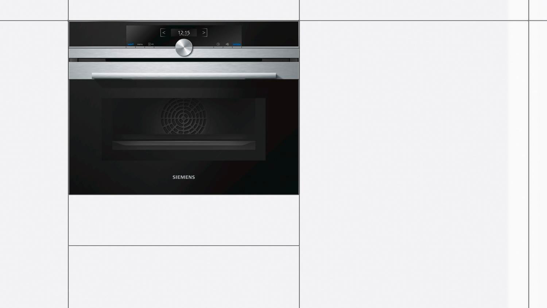 Siemens forno elettrico da incasso ventilato multifunzione con grill capacit 45 litri larghezza - Forno con microonde integrato ...