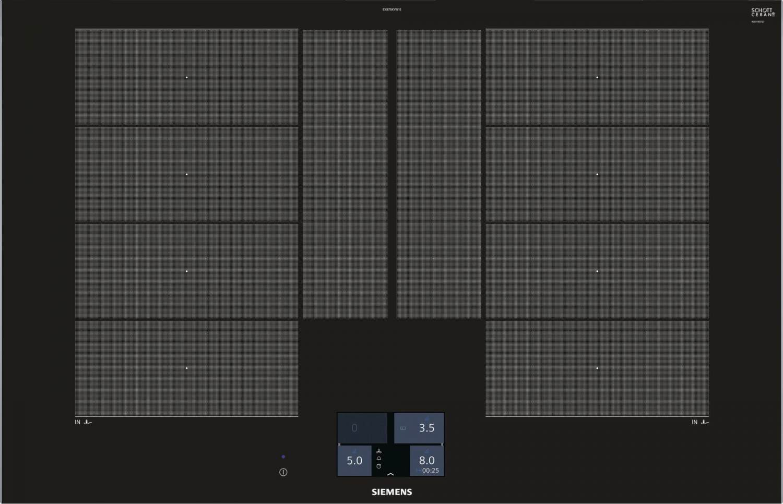 Siemens Piano cottura Induzione Elettrico 4 Fuochi da Incasso + 2 ...