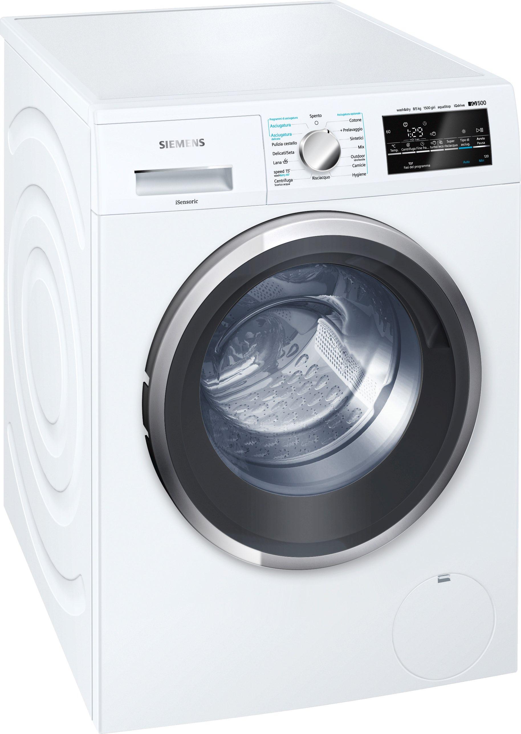 Siemens lavasciuga lavatrice asciugatrice capacit di for Siemens asciugatrice