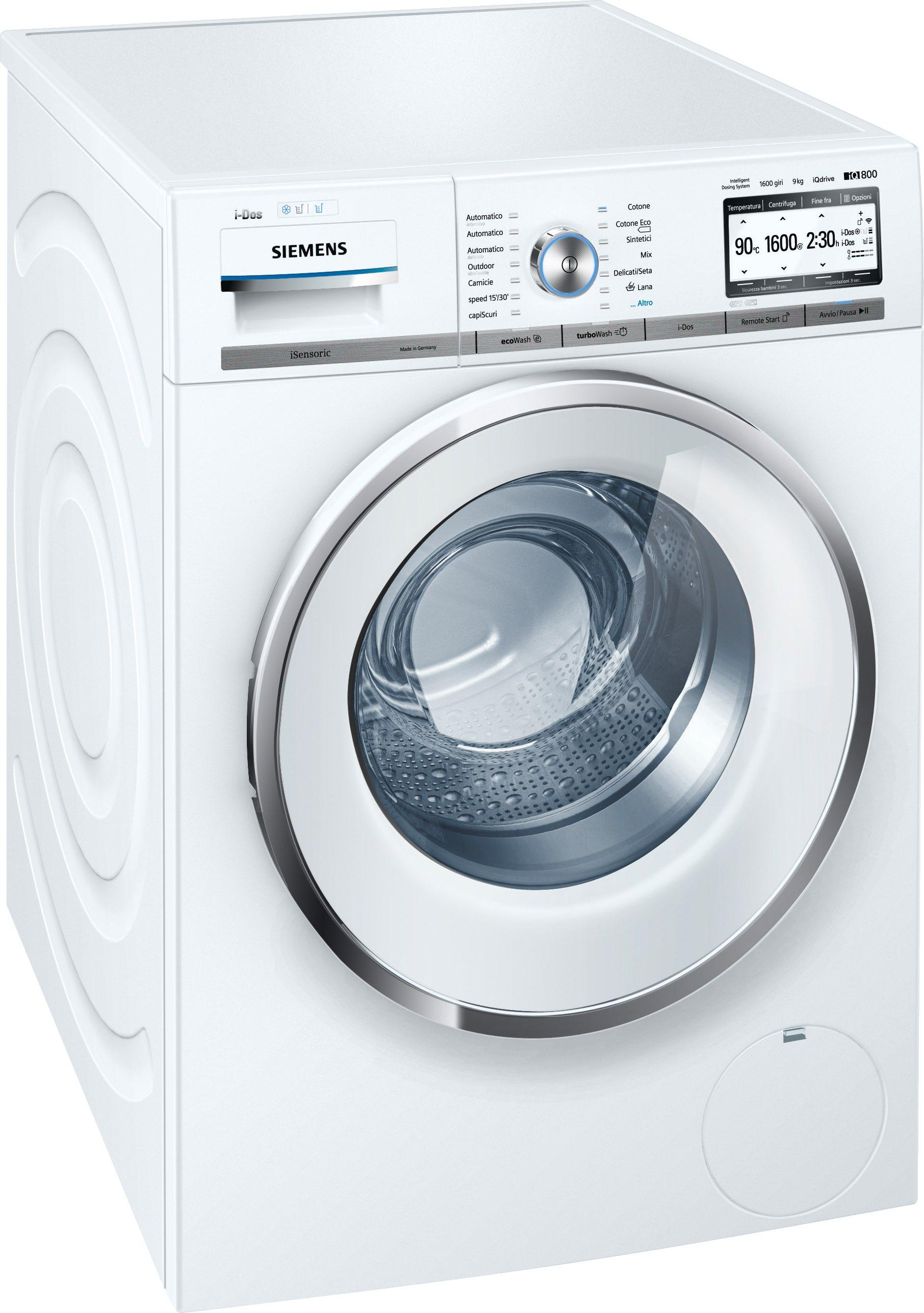 Siemens lavatrice carica frontale capacit di carico 9 kg - Profondita lavatrice ...