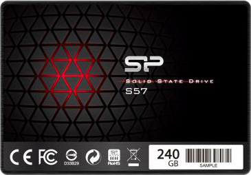 """Silicon Power SSD Solid State Disk 25"""" 240 GB Sata 3 6GBs SP240GBSS3S57A25 S57"""
