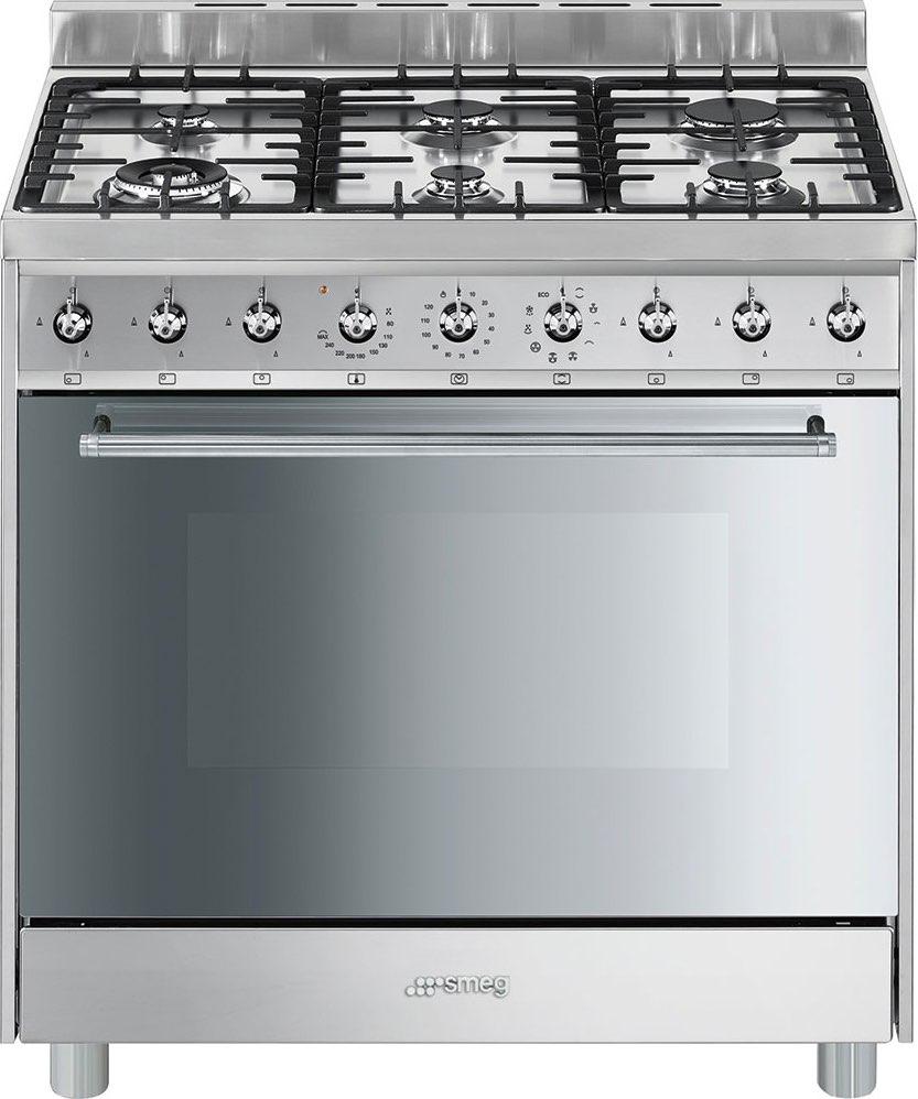 Cucina A Gas Smeg C9Gmxi9 Forno Elettrico Ventilato 90X60 ...