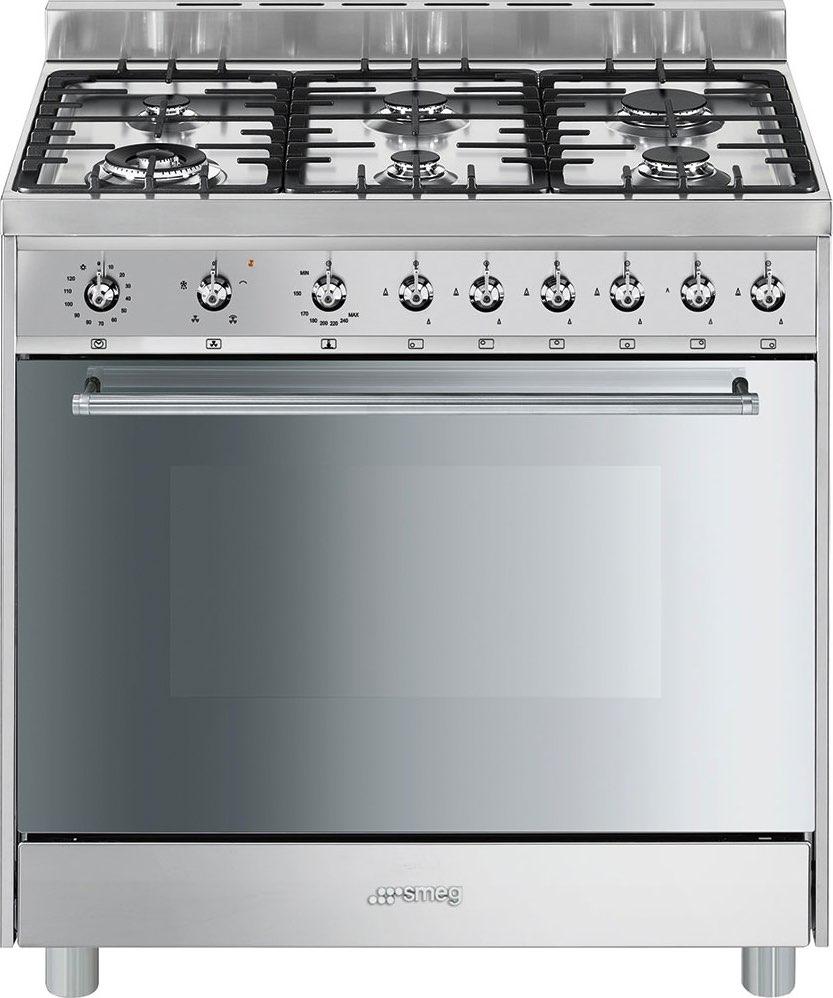 Cucina a gas smeg c9gvxi9 forno a gas ventilato 90x60 prezzoforte - Cucina a gas smeg ...