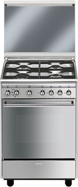Cucina a gas smeg cx51m forno elettrico ventilato 60x50 prezzoforte 7260 - Cucina a gas smeg ...