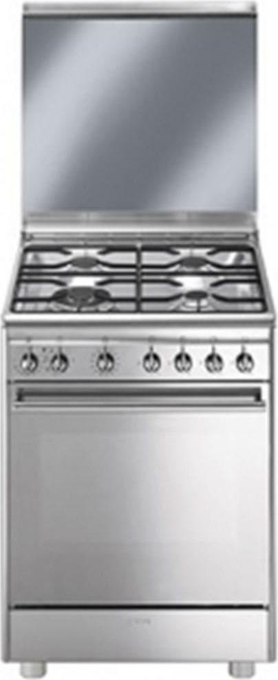Cucina a gas smeg cx68m8 1 forno elettrico ventilato 60x60 prezzoforte 97801 - Cucina con forno ventilato ...