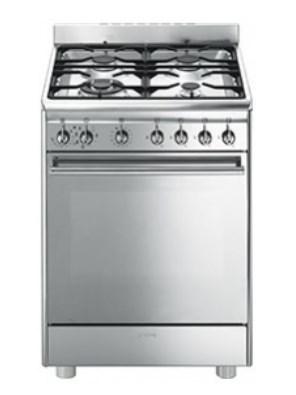 Cucina a gas smeg cx68mf8 2 forno a gas ventilato 60x60 prezzoforte 103679 - Smeg cucina gas ...