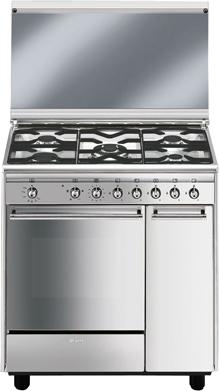 Cucina A Gas Smeg Cx81Gvet Forno A Gas Ventilato 80X50 | Prezzoforte ...