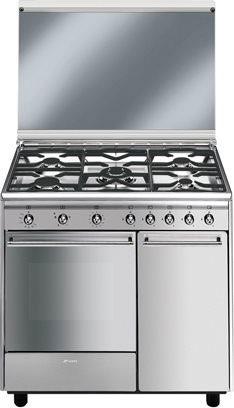 Cucina a gas smeg cx91gve forno a gas ventilato 90x60 prezzoforte 130184 - Cucina con forno a gas ventilato ...