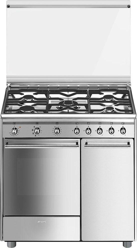 Smeg cucina a gas 5 fuochi forno elettrico multifunzione ventilato con grill termoventilato - Cucina a gas smeg ...