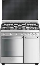 Cucina A Gas Smeg Cx9Sv1 Forno Elettrico Ventilato 90X60 ...