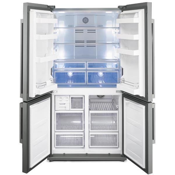 Frigorifero smeg frigo americano side by side no frost for Frigoriferi profondita