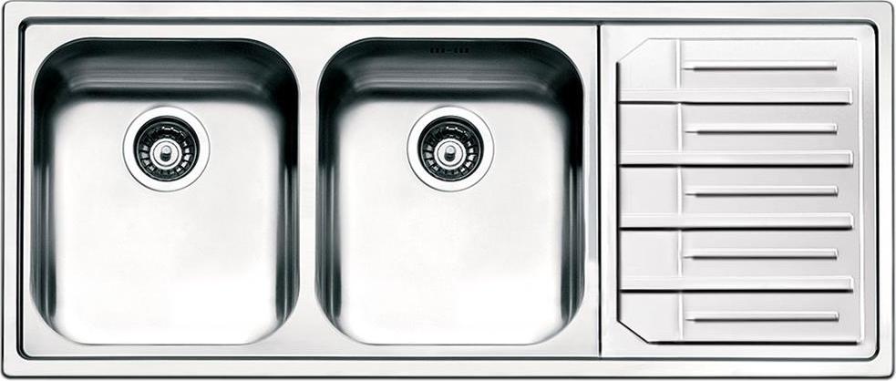 Lavello Cucina Smeg LPE116D 2 Vasche Inox Prezzoforte - 111174