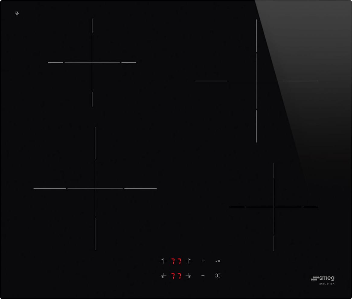 Smeg Piano Cottura Induzione Elettrico 4 Fuochi da Incasso Larghezza 60 cm  in Vetroceramica colore Nero - SI2641D