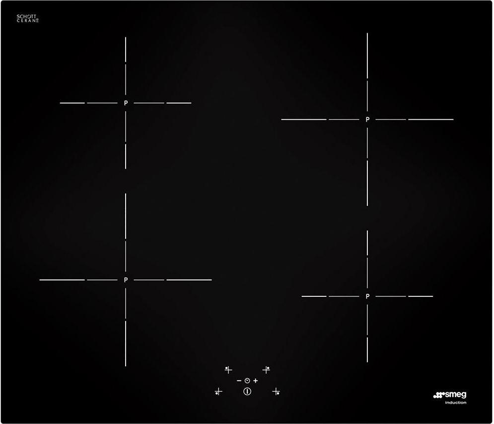 Piano Cottura Induzione Smeg 4 Fuochi 60 cm SI5642D - Prezzoforte.it ...