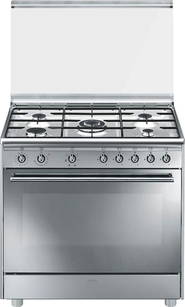 Cucina A Gas Smeg Sx91sv9 5 Fuochi Forno Elettrico Ventilato In Offerta Su Prezzoforte