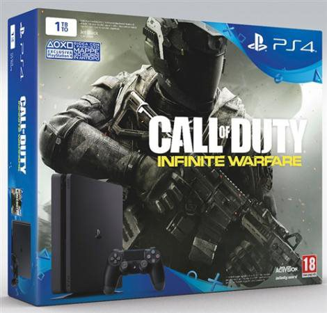 Sony Console Playstion 4 PS4 Slim 1000 Gb + Call of Duty: Infinite Warfare