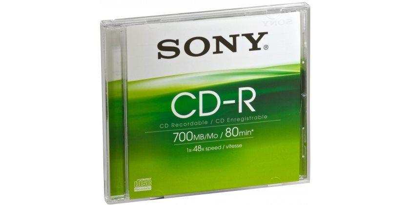 Sony CD-R 48x 700 Mb 80 Minuti - CDQ80SJ