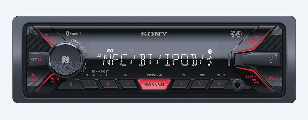 Sony Autoradio MP3 Bluetooth USB 1 Din Radio FM 55W Aux col Nero DSX-A400BT
