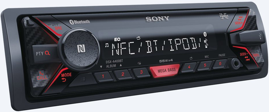 autoradio bluetooth sony stereo auto dsxa 400bt. Black Bedroom Furniture Sets. Home Design Ideas