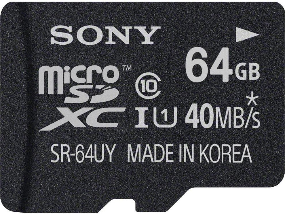 Sony Memoria Micro SD XC 64 GB Classe 10 40 MBs SR64UYA