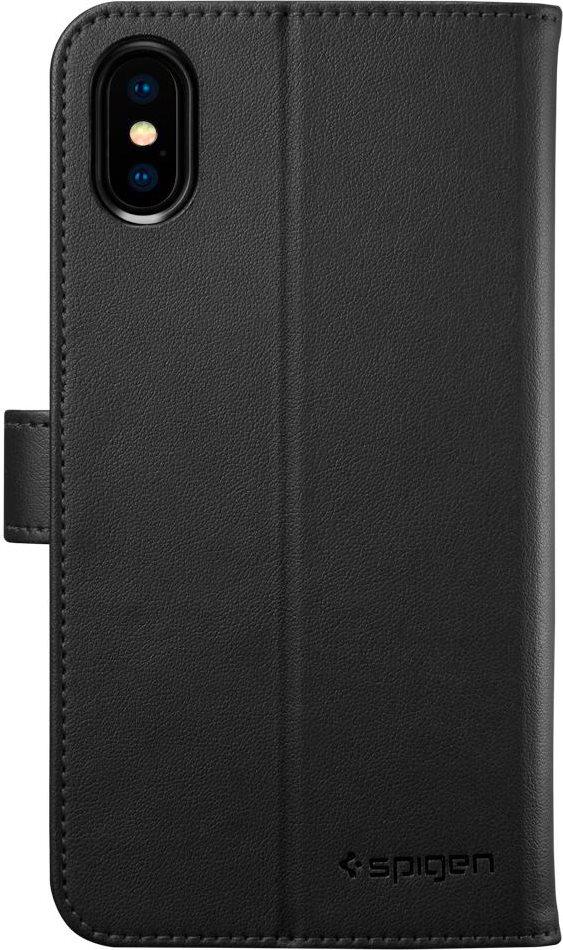 Spigen Custodia Cover a Libro per Apple iPhone X con porta Carte