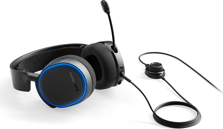 Steelseries 61504 Cuffie con Microfono Gaming Dolby 7.1 Nero  Arctis 5