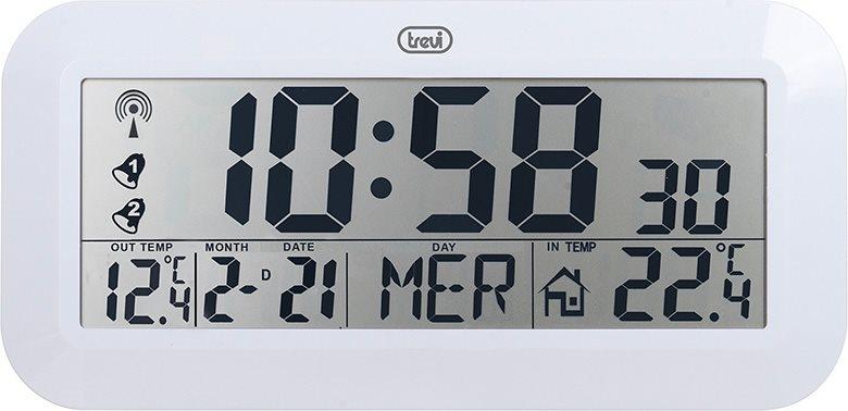 Trevi orologio sveglia radiocontrollato con temperatura - Orologio digitale da tavolo ...