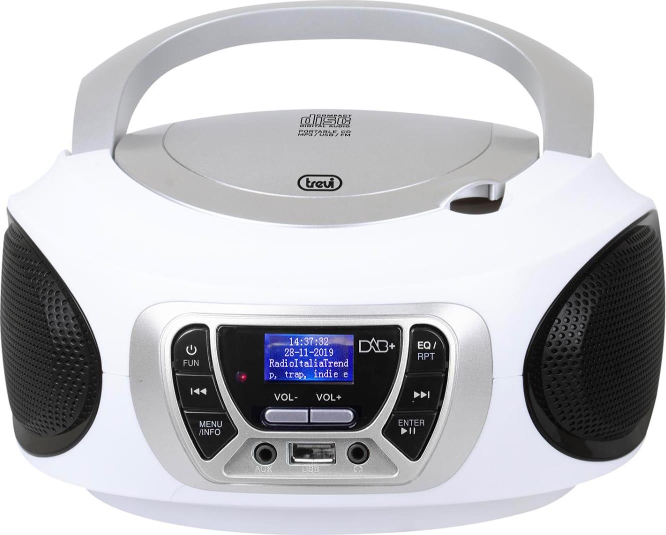 Presa cuffia Bianco AUX-IN DAB//DAB+//FM RDS USB