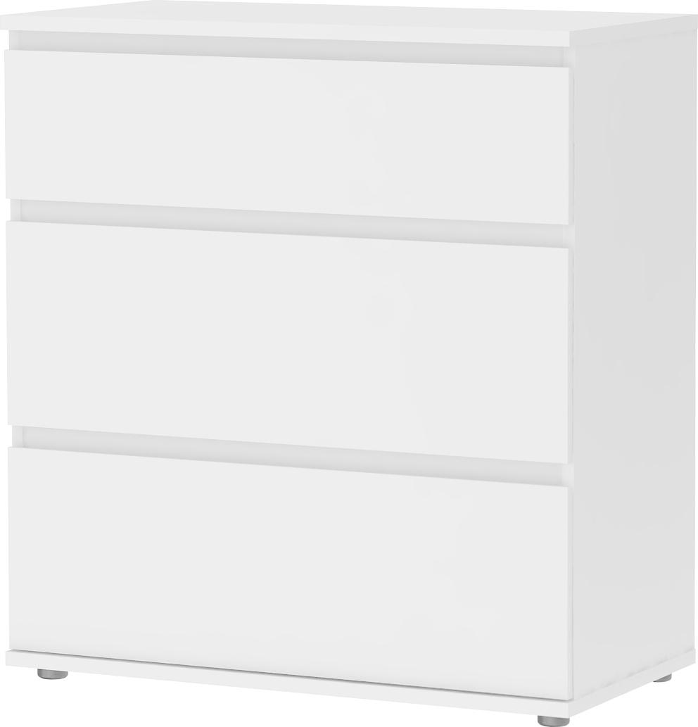 Mini Cassettiera Fai Da Te cassettiera in legno con 3 cassetti 77x40x84h cm colore bianco - 71094/49  linea nova