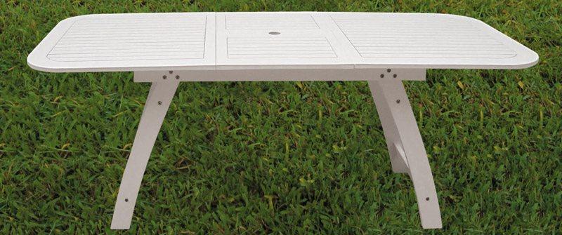 Tavolo Da Giardino Legno Bianco.Tata Linda Tavolo Allungabile Da Giardino In Legno Massello Cm 150