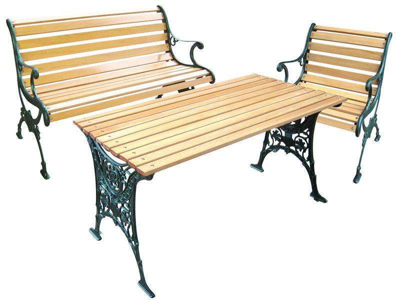 Tavoli Da Giardino In Ghisa.Tavolo Da Giardino In Ghisa E Legno Decoro Relax Arredo Giardino E
