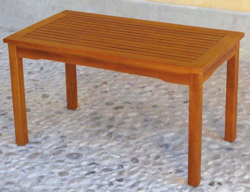 Tavolino Basso In Legno Da Giardino.Tavolo Da Giardino In Legno Balau Rettangolare Cm 90x50x50 H Positano