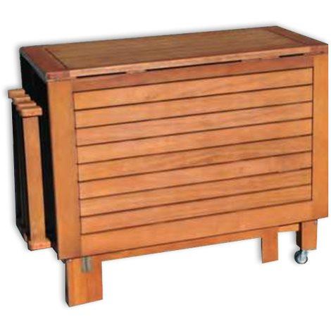 Tavolo e sedie da giardino in legno praiano arredo - Tavolo richiudibile in legno ...