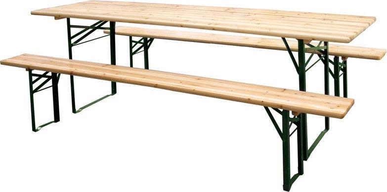 Set birreria con tavolo e 2 panche set birreria arredo giardino e mobili da giardino - Tavolo e panche da giardino ...