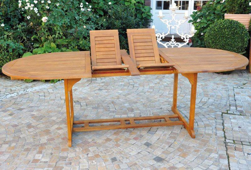Tavolo Da Giardino Estensibile.Tavolo Allungabile Da Giardino In Legno Di Acacia Ovale Cm 170 200 230x100x72 H Sorrento Estensibile