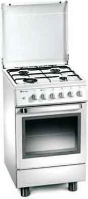 Tecnogas Cucina a Gas 4 Fuochi Forno a Gas Grill 50x50 cm Coperchio Inox - D12XS