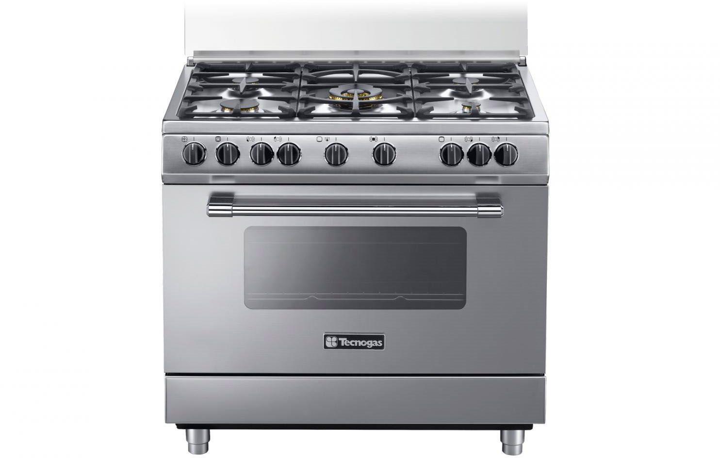 Tecnogas cucina a gas 5 fuochi forno gas elettrico multifunzione ventilato con grill larghezza - Cucina a gas tecnogas ...