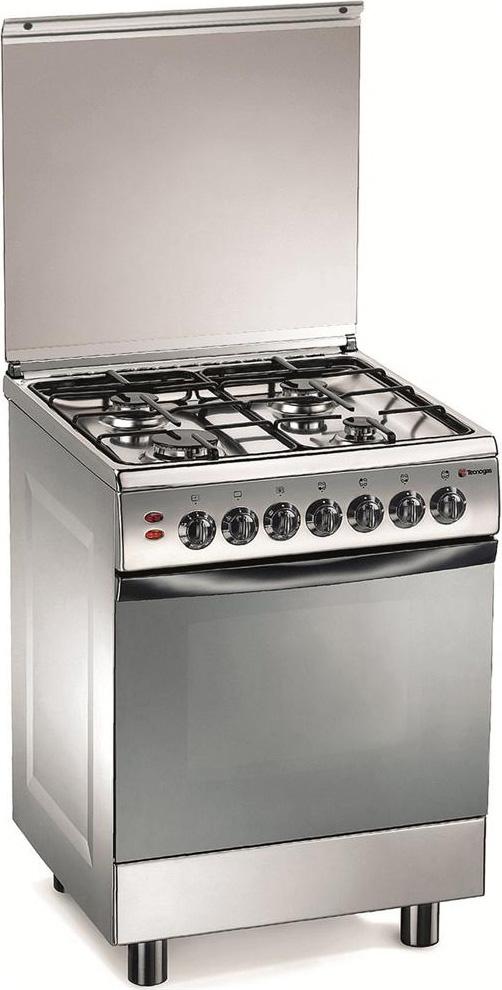 Tecnogas cucina a gas 4 fuochi forno elettrico con grill larghezza x profondit 60x60 cm classe - Cucina a gas tecnogas ...