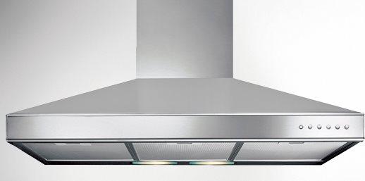 Cappa Cucina Aspirante Parete Larghezza 60 cm Profondità 46 cm colore  Acciaio - K2080087 Serie Quadrifoglio