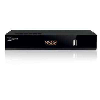 Telesystem 21005258 Decoder satellitare digitale HD DVB-S2 HEVC Timeshift Timer USB TS4502