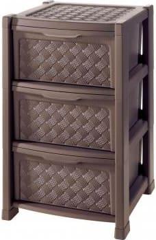 Tontarelli Cassettiere Plastica.Cassettiera 3 Cassetti In Plastica 39x39x63 5 Cm Wenge 8025646909
