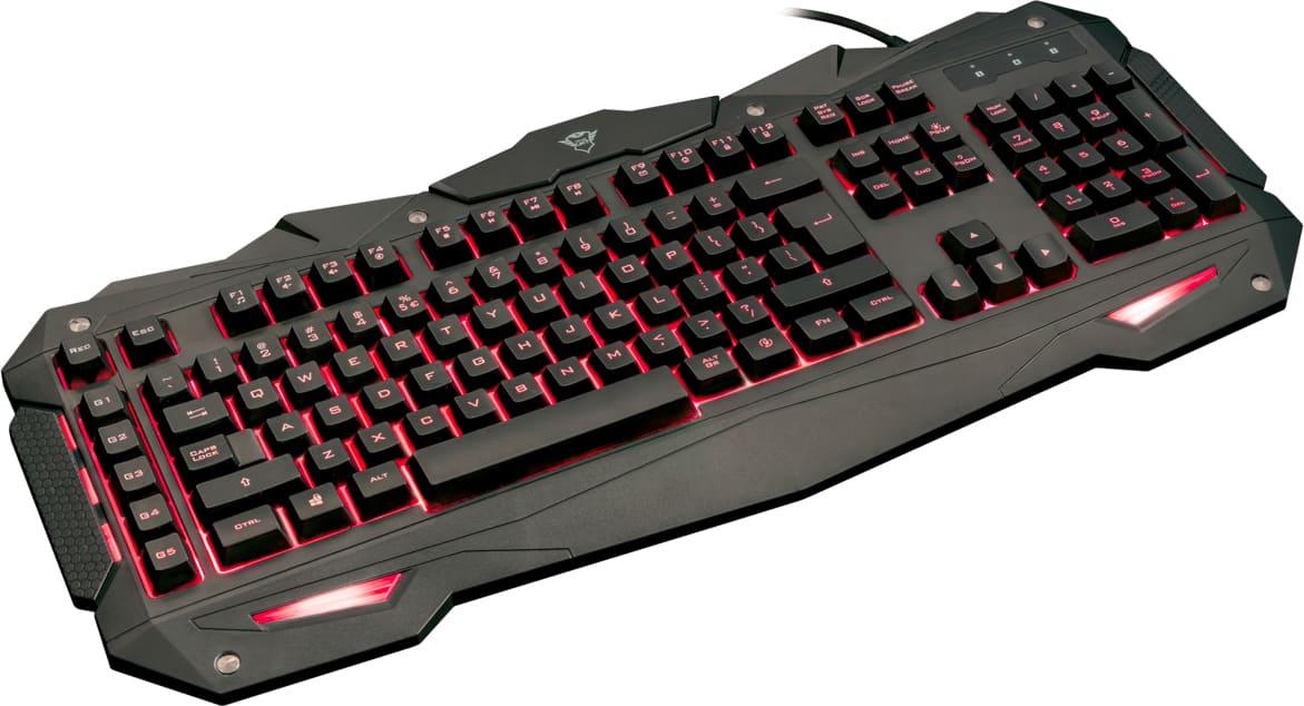 Trust tastiera gaming usb illuminazione led colore nero