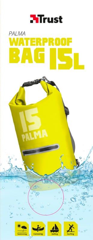 Sacca Impermeabile Waterproof Tablet e Smartphone 15lt Giallo Trust 22832 Palma